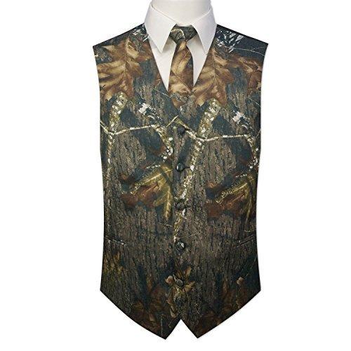 Camouflage Vest & Tie Large with Neck Tie Camouflage Mens Vest