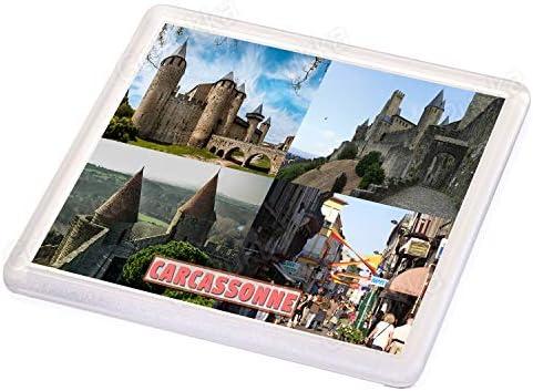 Carcassonne France - Posavasos recuerdo: Amazon.es: Hogar