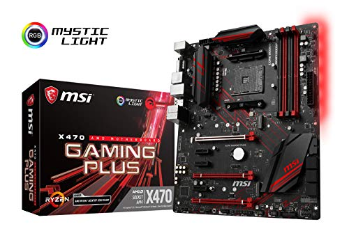MSI Performance Gaming AMD X470 Ryzen 2 AM4 DDR4 Onboard Graphics CFX ATX Motherboard (X470 Gaming Plus)