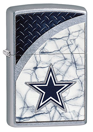 Chrome Pocket Lighter - Zippo NFL Dallas Cowboys Street Chrome Pocket Lighter