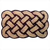 """Nedia 12102 Not Applicable Lovers Knot 36"""" x 22"""" Mat, Natural"""