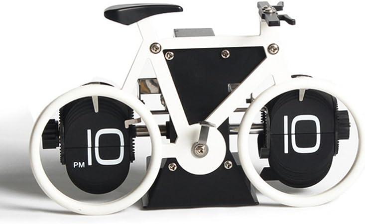 reloj flip de la bicicleta reloj flip de la bicicleta reloj de mesa Reloj flip creativo de moda reloj de marea-A: Amazon.es: Hogar
