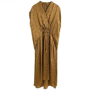 BINGQZ Casual Vestido Vestido de Jacquard de Seda 20019 de Verano ...