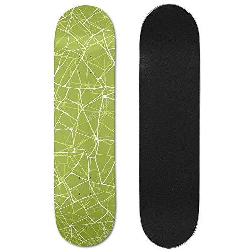 flyvans-green-mosaic-texture-double-up-skateboard-decks