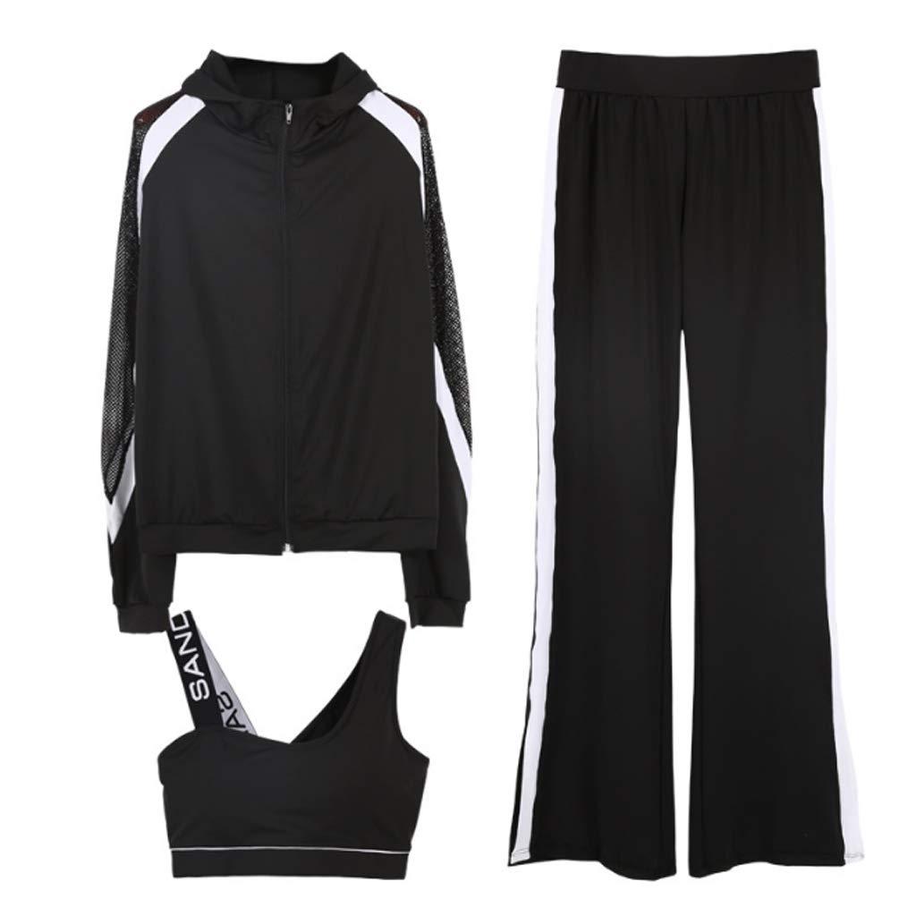 Lilongjiao Damen Sport Anzug BH Strumpfhosen Stretch Fitness Kleidung Yoga Kleidung Laufen Kleidung Lässige Sportbekleidung