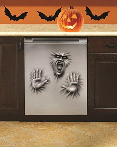 Forum Novelties Dishwasher Door Cover Ghost Scary Horror Face Hands Halloween Prop Decoration -