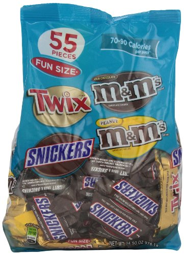 M&M's MARS Chocolate Fun Size Variety Pack Candy, 55-Pieces, 34.5-Ounce Packages (Pack of 2)