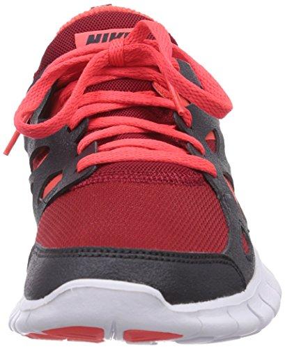Nike Free Run 2 (Gs) - Zapatillas de gimnasia para niños Gym rd/brght crmsn-anthrct-whi 602