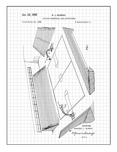 Frame a Patent Folding Basketball Goal-structures Patent Pri
