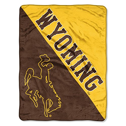 (The Northwest Company Officially Licensed NCAA University of Wyoming Halftone Micro Raschel Throw Blanket, 46