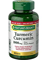 Turmeric Curcumin w/Black Pepper by Nature's Bounty, Anti-Inflammatory Joint Pain Relief, Antioxidants Source, 1,000mg, 90 Capsules