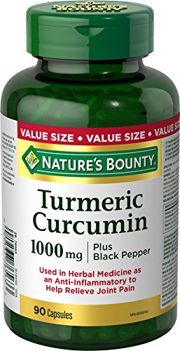 (Nature's Bounty Turmeric Curcumin 1000mg Plus Black Pepper, 90 capsules)