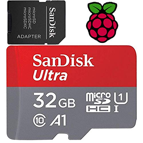 32GB Raspberry Pi Preloaded (NOOBS) SD Card | 3B+ (Plus), 3B, 2, Zero Compatible with All Pi Models
