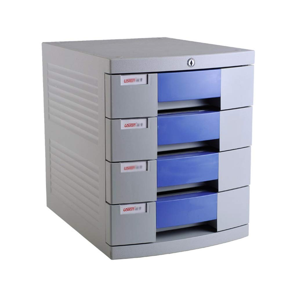 LBWT Desktop File Cabinet - Finishing Cabinet with Lock 4-Layer File Cabinet Storage Box Office/Home/Bank/Mall by LBWT
