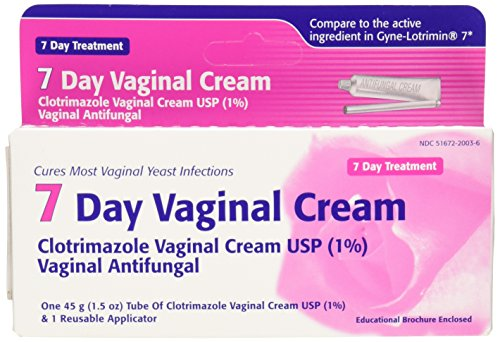 Antifungal cream for yeast infection