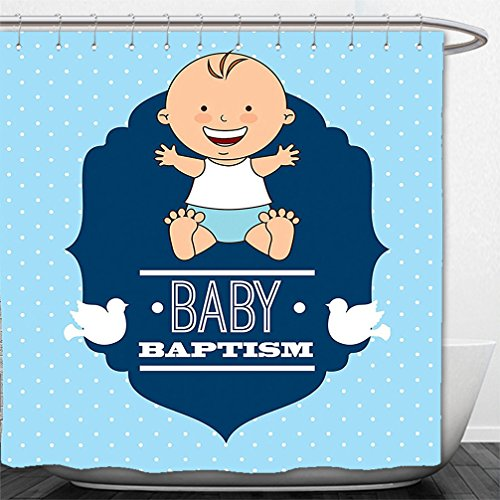 Interestlee Shower Curtain Baptism Decorations Baptism Laughing Baby Boy Hope Belief Symbol Joy Sacramento - Macys Sacramento