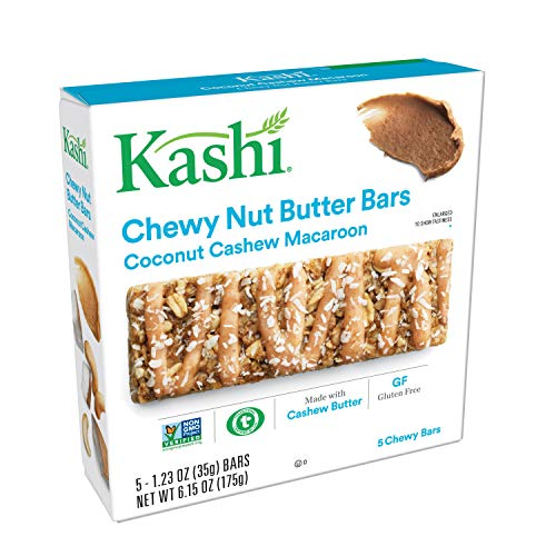 (Kashi, Chewy Nut Butter Bars, Coconut Cashew Macaroon, Vegan, Gluten Free, Non-GMO Project Verified, 6.15 oz (5)