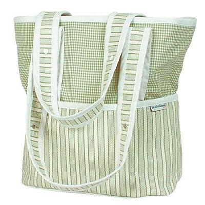 Hoohobbers Sherbert Celery Tote Diaper Bag,Green/ Beige,one size by Hoohobbers