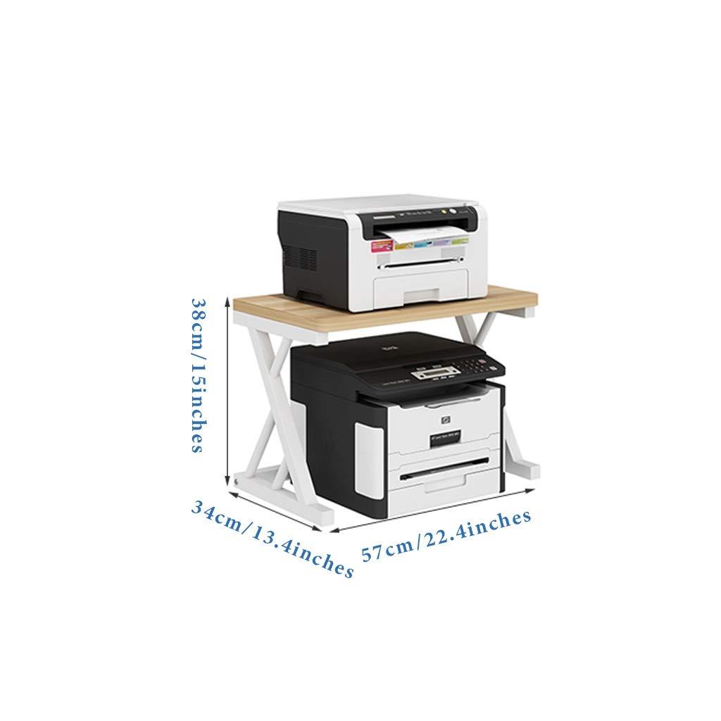 Estante De Almacenamiento Estante De Impresora Estante De Almacenamiento De Fibra De Madera Estante De Almacenamiento De Cocina Estante De La Copia De La Oficina Soporte De Piso Simple