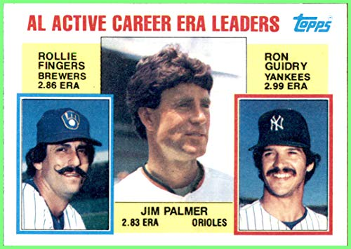 JIM PALMER HOF BALTIMORE ORIOLES 1984 TOPPS #717 Rollie Fingers Brewers Ron Guidry Yankees Vintage