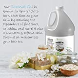 Fractionated Coconut Oil Massage Oil - 1 Gallon Value Size Skin Moisturizer Best Carrier Oil - Natural & Pure Therapeutic Odorless for Skin Hair & Nails Premium Nature