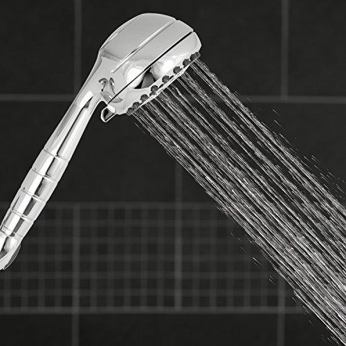 Waterpik XRO-763 High Pressure Powerpulse Massage Hand Held Shower Head, Chrome Detachable Shower Head with 7 Spray Settings and 5' Hose