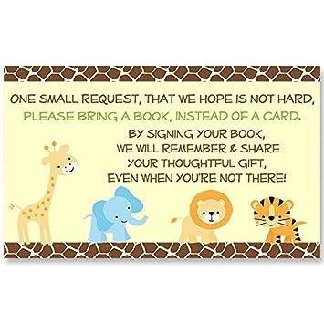 Amazon.com: Safari Baby Shower trae un libro tarjetas de ...