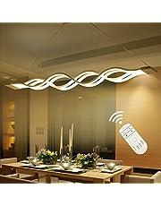 Nowoczesny żyrandol, lampa wisząca LED, 60 W, lampa sufitowa do salonu, sypialni, jadalni, ściemniana z pilotem zdalnego sterowania