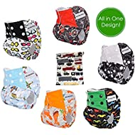 Pocket Cloth Diapers All in One Design Adjustable Size...