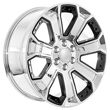 Amazon Com 22 Chrome With Black Inserts Cadillac Escalade Wheels