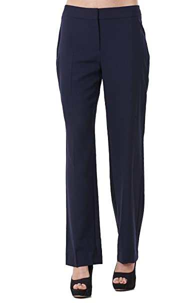 6526d94abc7 BHS Ladies Comfortable Work Straight Leg Office Formal Smart Womens Trousers   Amazon.co.uk  Clothing