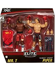 WWE Elite Collection 2 Pack Mr. T vs Rowdy Roddy Piper 6 in Action Figure with Boxing Robes and Swappable HandsPosable Collectible Gift for WWE Fans Ages 8 Years Old and Up