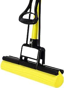 DIAOD Yellow Home Kitchen PVA Sponge Mop, Super Absorbent PVA Foam Sponge Mop All Purpose Floor Cleaner