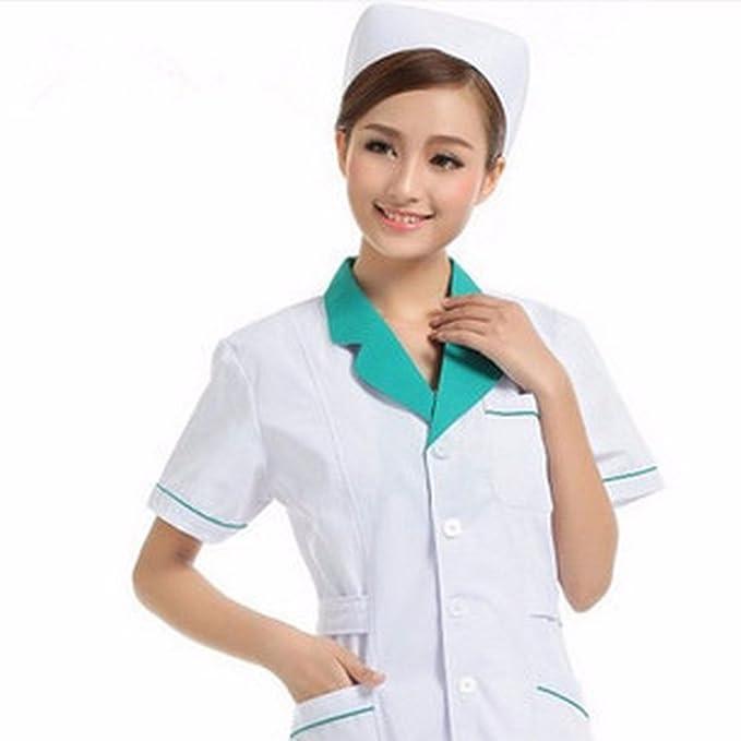 Xuanku Farmacia, Ropa De Trabajo, Hombres Y Mujeres Médico Ropa, Abrigo Blanco, Farmacia, Ropa De Trabajo, Servicio Medico Chaqueta De Manga Corta: ...