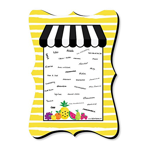 Tutti Fruity - Unique Alternative Guest Book - Frutti Summer Baby Shower or Birthday Party Signature Mat