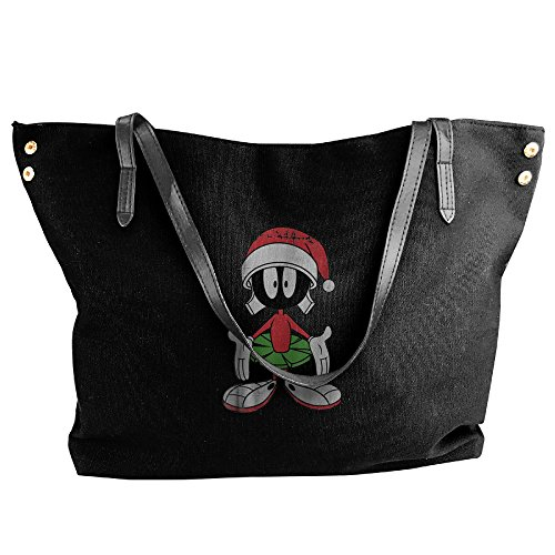 Christmas Marvin The Martian Trendy Women's Shoulder Bags Casual Handbag Canvas Bags Tote (Space Jam Costumes)
