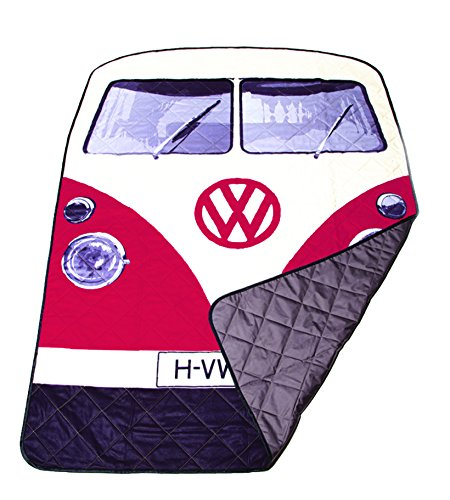 The Monster Factory VW Volkswagen T1 Camper Van Picnic Blanket - Red