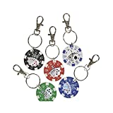 1.5'' Poker Chip Keychain