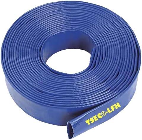 Azul Layflat agua bomba de descarga MANGUERA RIEGO - 51 mm (5, 08 cm) x 40 metros de boca larga: Amazon.es: Jardín