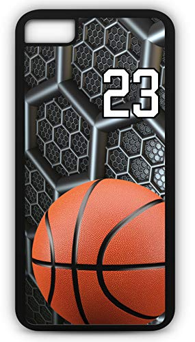 - iPhone 6s Case Basketball BK038Z Choice of Any Personalized Name or Number Tough Phone Case by TYD Designs in Black Plastic and Black Rubber with Team Jersey Number 23