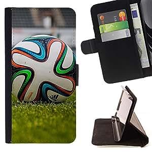 Momo Phone Case / Flip Funda de Cuero Case Cover - Fútbol;;;;;;;; - Samsung Galaxy Core Prime