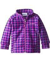 Columbia Baby-Girls Newborn Benton Springs Printed Fleece, Blossom Pink Houdstooth Print