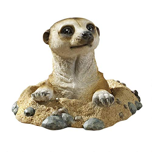 Design Toscano Out of the Kalahari Meerkat Garden Animal Statue, 10 Inch, Polyresin, Full Color (Statues Animal Outdoor)
