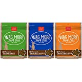 Cloud Star Wag More Bark Less Soft & Chewy Dog Treats 3 Flavor Variety Bundle: (1) Wag More Bark Less Soft & Chewy Creamy Peanut Butter, (1) Wag More Bark Less Soft & Chewy Bacon, Cheese, and Apples, and (1) Wag More Bark Less Soft & Chewy Chicken & Carrots, 6 Ounces Each (3 Bags Total)