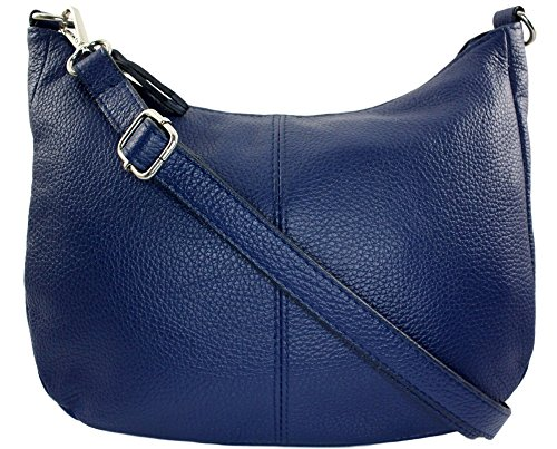 Jeans Bleu Cuir Bandouliere Sac Chloly Italie Mamamia zWUwc