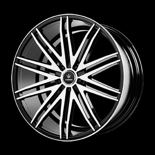 Verde Custom Wheels Impulse Gloss Black Wheel with Machined Spoke and Lip (20x10.5