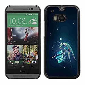 Shell-Star ( Abstract Galaxy ) Fundas Cover Cubre Hard Case Cover para All New HTC One (M8)