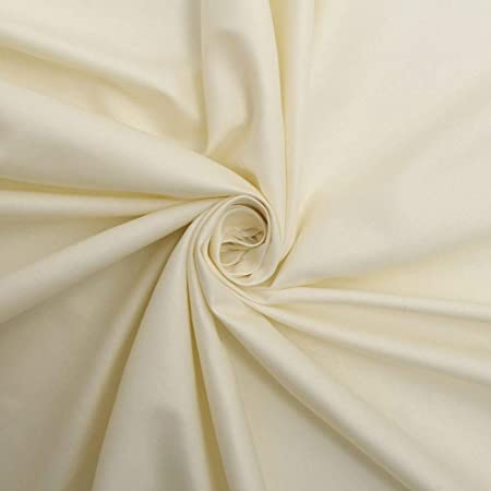 IVORY POLY COTTON TWILL CURTAIN LINING WIDTH 137CM SOLD BY THE METRE