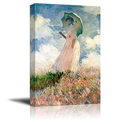 Woman with a Parasol Facing Left 1886 by Claude Monet Print Famous Painting Reproduction