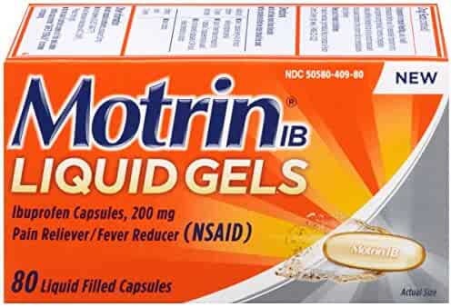 Motrin IB Liquid Gels, Ibuprofen, Aches and Pain Relief, 80 Count